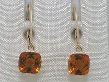 Citrin Ohrhänger Ohrpendel 585 Gelbgold 14Kt Gold natürliche Citrine