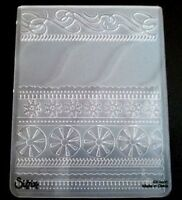 Sizzix Large Embossing Folder SWIRLS RIBBONS SNOWFLAKES fit Cuttlebug 4.5x5.75in