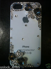 3D St. Patrick's Clear Hearts Swarovski Crystal Bling Case Handmade iPhone 5 5S
