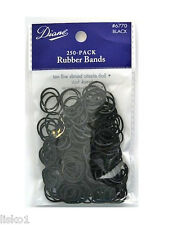 """Diane #6770 PONY TAIL BLACK RUBBER BANDS, 1/2"""" ROUND, 250-COUNT"""