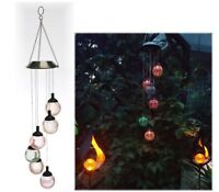 32 cm Windspiel mit Solar-Leuchtkugel LED Farbwechsel DEKO ca Living/&Garden