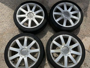 AUDI  A2  RS4 STYLE ALLOY WHEELS 17 REMOVED FROM 2002 AUDI A2