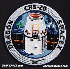 Authentic CRS-20 - SPACEX - FALCON-9 DRAGON F-9 ISS NASA RESUPPLY Employee PATCH