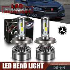 12000LM 6000K H4 COB LED Headlight Bulb For 2002-2006 HONDA CIVIC Hi/Lo Beams