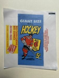 1964-65 Topps Hockey Cards Giant 5 Cent Wax Wrapper Print