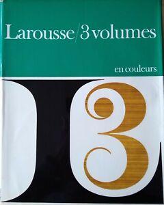 Larousse 3 Volumes en couleurs 1966