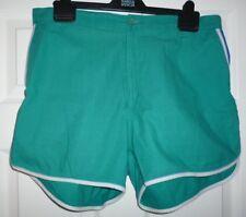 """Men's Jade Coton Shorts Medium W 36"""" L2"""" Bleu insert et bordure blanche"""