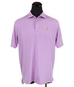 Masters By Peter Millar Summer Comfort Golf Polo Shirt Pink/Blue Men's Sz Large