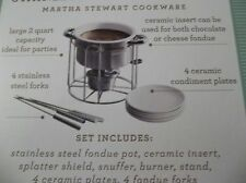 NEW Martha Stewart Complete Stainless Steel Fondue Set
