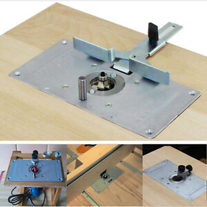 Flip Board Router Table Insert Plate Woodworking Trimming Machine Aluminum Alloy