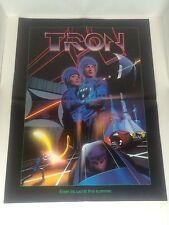 "Original 1982 Tron  22"" x 17"" Fold Out Mini Promotional Movie Poster"
