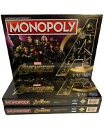 New Monopoly Marvel Avengers Golden Endgame Special Edition Sealed Iron Man 🔥