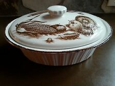 """Midwinter Stonehenge 13"""" Oval Casserole MDW19 Brown Vegetables England"""