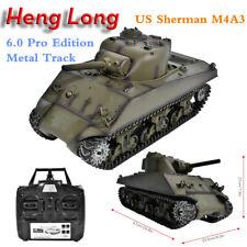 Henglong 3894-1 1:16 Scale Metal US Sherman M4A3 2.4GHz RC Tank Battle Sound