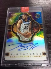 2017-18 Select Karl-Anthony Towns Tie Dye Auto 8/25 Autograph Prizm Refractor SP
