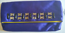 Juicy Couture Purple / Indigo Sateen Jade Jeweled Clutch NWT & Dustbag YHRU3341