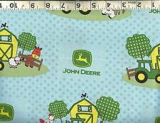 Springs Creative ~ John Deere Tractor Baby Farm ~ 100% Cotton Quilt Fabric BTY