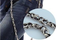 Korean Mens Fashion Wallet Chains Biker Trucker Punk Skull Metal Jean Chain
