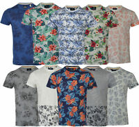 Mens Hawaiian Fashion Floral T- Shirt Vest Short Sleeve Casual Cotton Summer