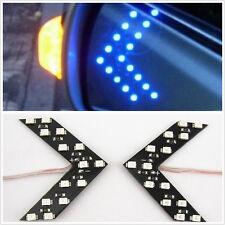One Pair 14-LED Blue Arrow Shape Vehicle Rear View Mirror Indicator Signal Light