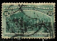 Sc #238 15 Cent Columbian 1893 US Stamps 2395
