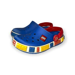Kids Blue Lego Themed Crocs size 12 to 13 - waterproof - outdoor shoes