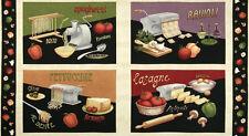 Wilmington Prints Al Dente Pasta Olive Italian Food Fabric Cotton 4 Scene Panel