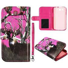 For Samsung Galaxy S3 Pik Deer Conifer Flip Wallet Leather Case Cover