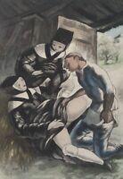 BERTHOMME SAINT ANDRE :  les soeurs complaisantes - Lot de 2 EAUX FORTES, 1931