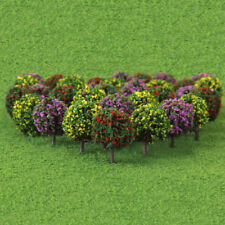 Mixed 30x Flower Trees Model Train Garden Scenery Landscape HO Scale 1:100 Decor