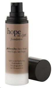 NEW 1 OZ PHILOSOPHY HOPE IN A JAR LIGHT AS AIR HYDRATING FOUNDATION SHADE= 10
