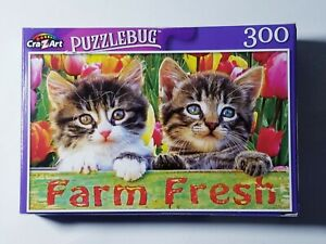 Tabby Kitten Friends Puzzlebug 300 piece Brand New FREE SHIPPING