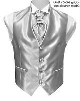 Gilet uomo sartoriale elegante cerimonia grigio lucid papillon cravatta plastron