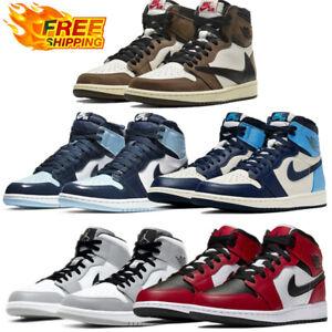 Uomo E Donna Mid Air Jordan1 Formatori Retro High OG Raso Chicago Sneakers
