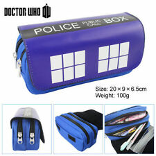 Doctor Who canvas PencilCase Women student zipper cartoon pencil box Make-Up Bag
