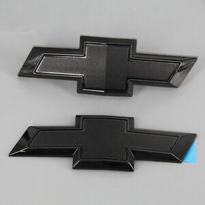 Black Emblem Bowtie Front Rear Trunk Badge Replaces 84219485 Fits Chevy Camaro