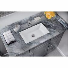 Cahaba CA425T18-W Large Undermount Trough Vitreous China Porcelain Vanity Sink