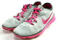 Nike Free 5.0 TR Fit 5 $120 Women's Training Shoes Size 8.5 Gray Pink