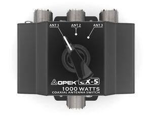 UNIVERSAL CX5 COAXIAL ANTENNA COMMUNICATION SWITCH BOX SO239 FEMALE UHF (CX3)