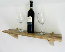 62CM RECLAIMED PALLET WOOD SHELF RUSTIC SHABBY CHIC SHELF NATURAL BEESWAX