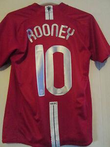 Manchester United 2007-2009 Rooney CL Home Football Shirt Adult Medium /44116