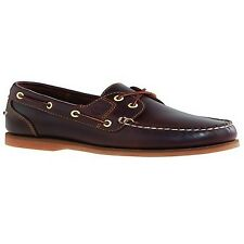 Womens Timberland Amherst Root Beer Brown Leather Boat Deck Shoes Sz Size UK 7 / EU 40 / US 9 / Aus 9