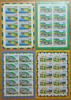 10 x Bund Nr. 1807 - 1810 KB postfrisch BRD Kleinbogen Zehnerbogen Satz 1995