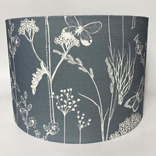 Grey & Ivory Countryside Floral Fabric Ceiling Light Shade or Table Lampshade