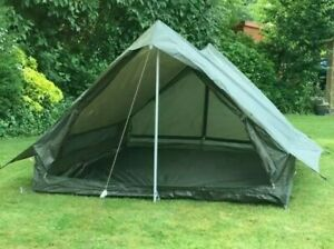 Brand NEW Bargin French Military Army 2 Man Tent Green Storage Bag Poles Pegs