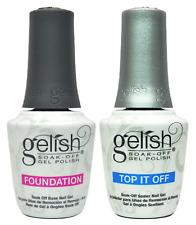 Gelish Dynamic Duo Soak-Off Gel Polish Foundation + Top It Off - 15 ml. 0.5 oz *