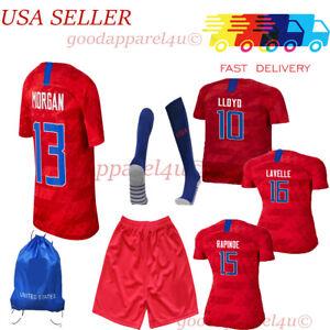 USA Morgan Lavelle Rapinoe Lloyd Heath Kids Jersey Set 5-13 with flaws / defects