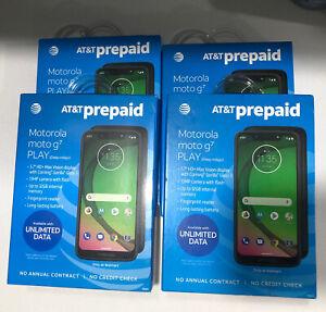 Four (4) Motorola Moto G7 - 32GB - Indigo (Unlocked) Smartphone Lot Of 4 Phones