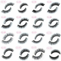 100% Real Mink Soft Long Natural Thick Makeup Eye Lashes False Eyelashes S-g