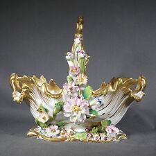 Paris Panier Fleuri Porcelaine Milieu 19ème